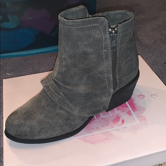 Not Rated Shoes - Gray booties